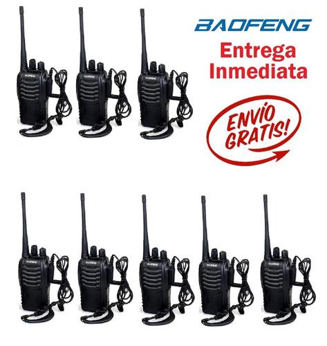 8 radios baofeng bf-888s walkie-talkie uhf 400-470 mhz
