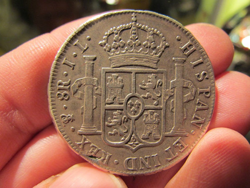8 reales 1825 fernando vii potosi j.l excelente estado plata