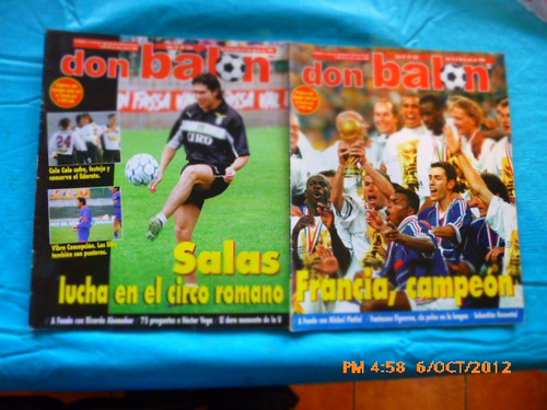 8 revistas don balon entre 322-350 universidad de chile(395w