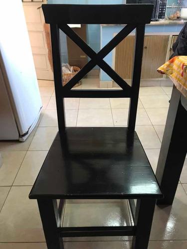 8 sillas comedor pino macizo