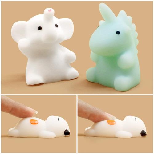 8 squishy mochi animals anti stress toys c/ bolsita kawaii