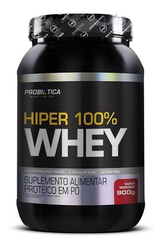 8 uni 100% whey hiper pure 900g pote - probiotica
