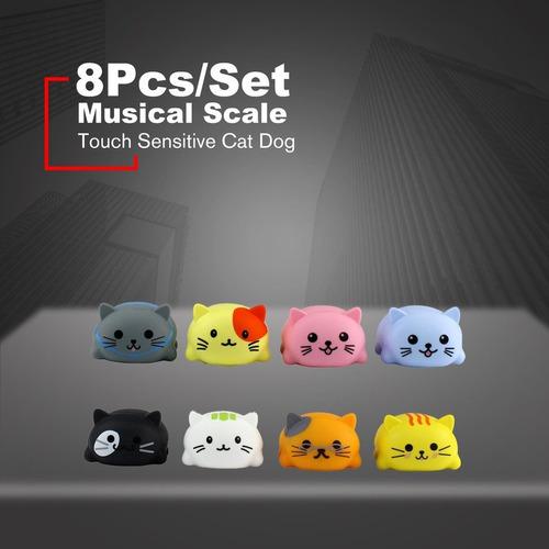 8 unids/set eléctrico gato perro reproductor de piano divert