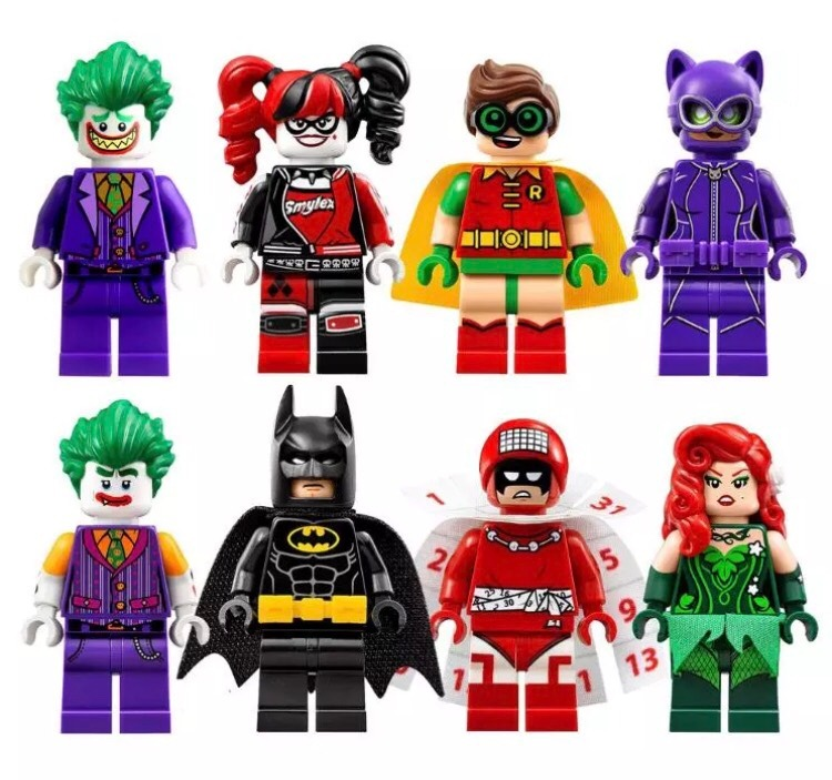 8 x batman movie la pelicula lego compatibles harley joker for Codigos de lego batman