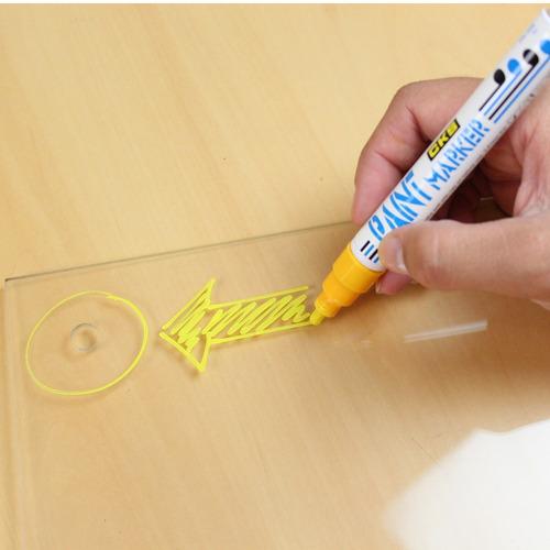 8 x caneta marcador permanente cks base oleo - vidro metal