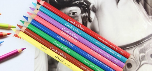 8 x lapis pastel seco artistica conte a paris *escolha*