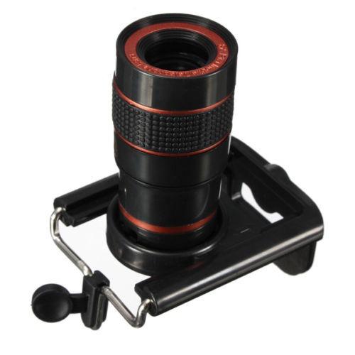 8 x lente de zumbido del telescopio para cámara de teléfono