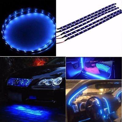 Tira de luz flexible impermeable para coche de cami/ón Moto parrilla Azul 30/cm 12/V 15/SMD LED