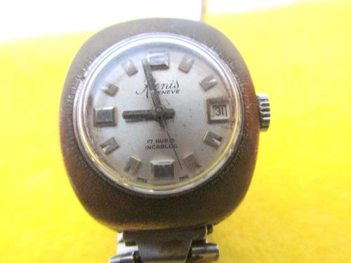 80 antiguo reloj de pulsera marca renis en buen estado