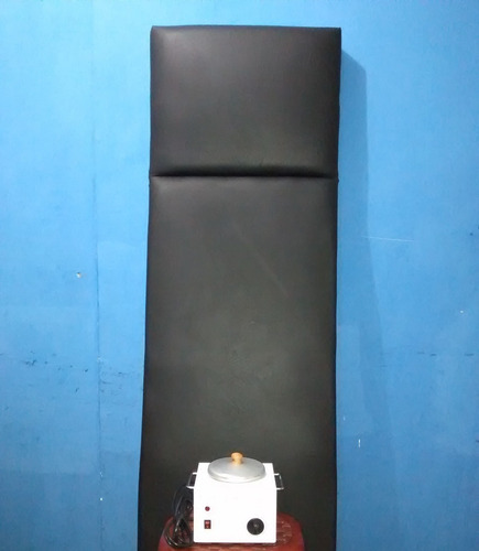 (80) camilla y calentador de cera super cristal como nueva