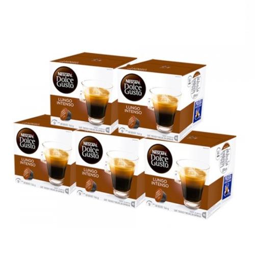 80 capsula cafetera nescafe dolce gusto lungo intenso