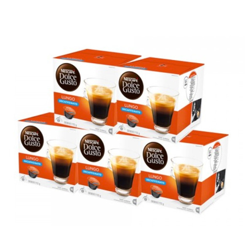 80 capsulas cafetera nescafe dolce gusto lungo decaff