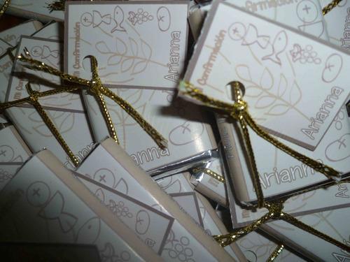 80 chocolates personalizados -bautismo-nacimts-15 años-boda