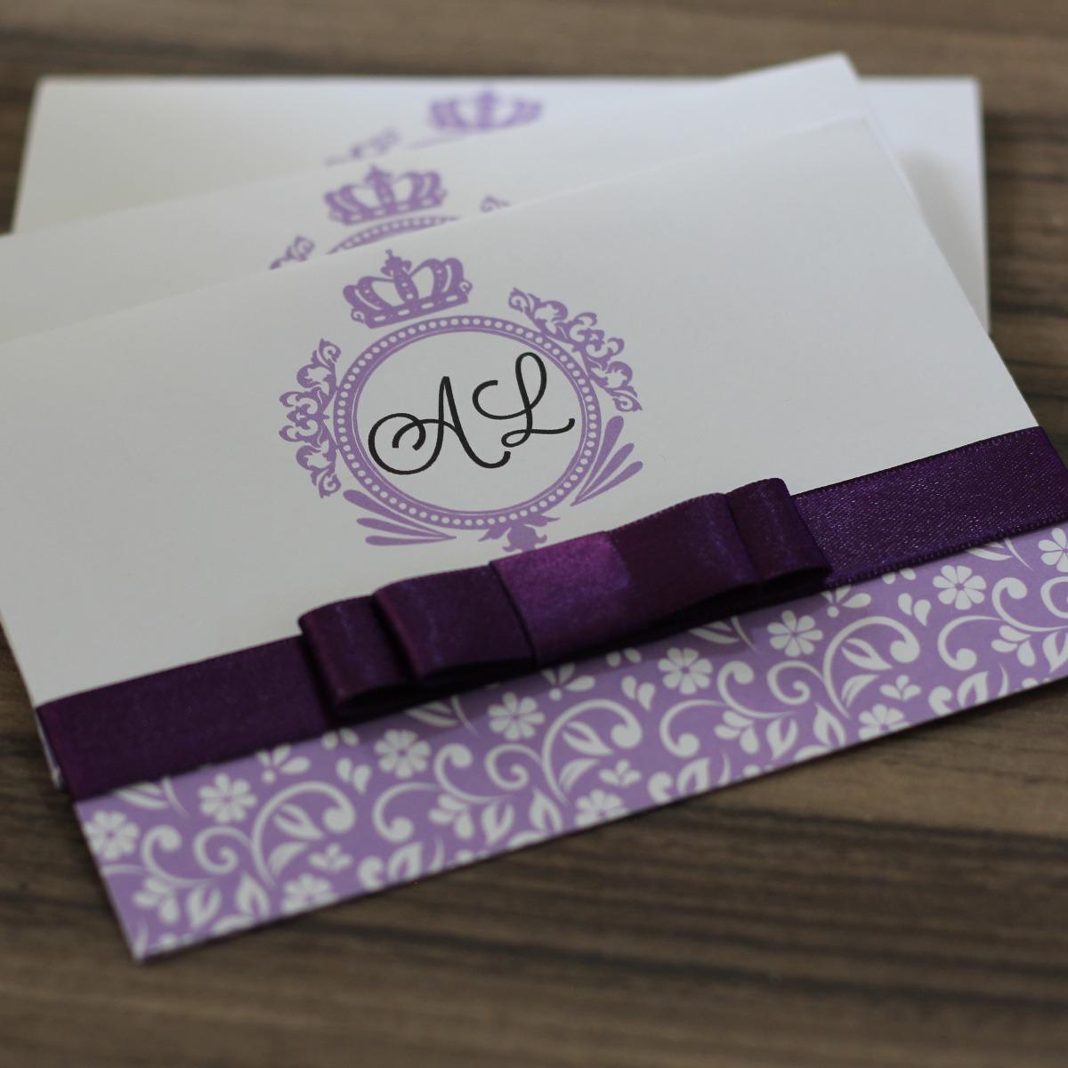 80 Convites 15 Anos Debutante Iniciais Lindo Itens Extras R 245