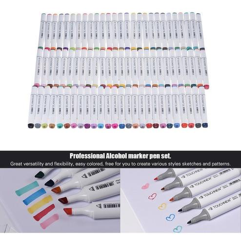 80 de color dual gemelo punta marcador marcado plumas arte b