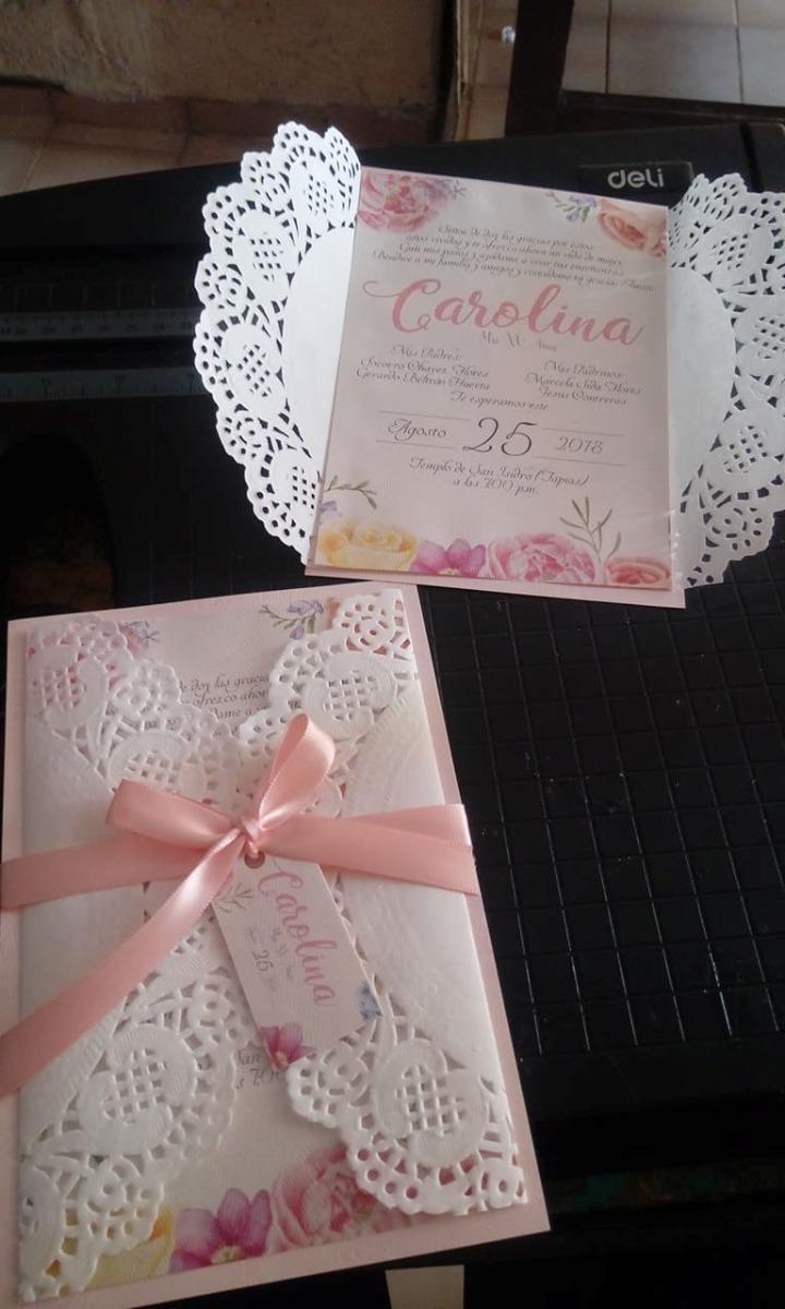 80 invitaciones elegantes vintage para boda o xv a os for Tarjetas de 15 anos vintage