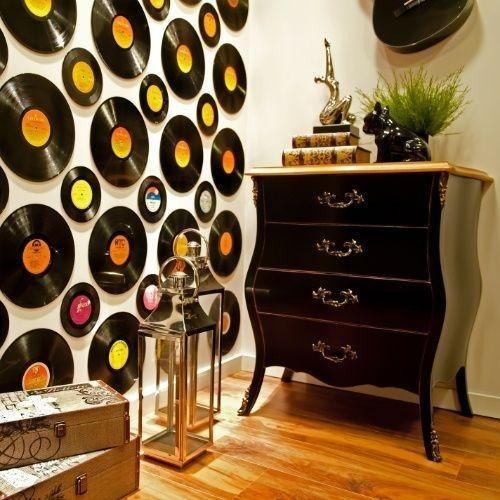 80 lp disco de vinil pra artesanato e decoração 30 cm 12 pol
