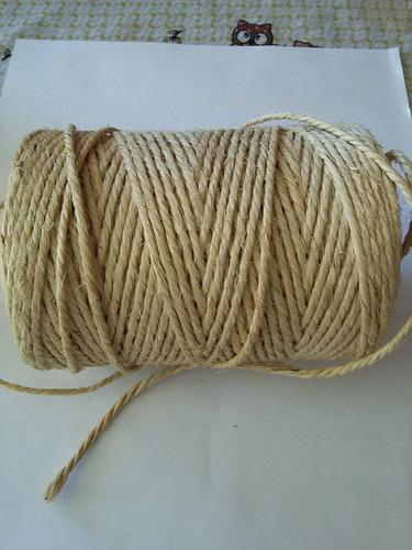 80 metros corda cordão fio sisal 4mm
