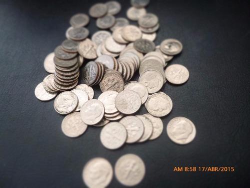 80 monedas  10 cents estados unidos