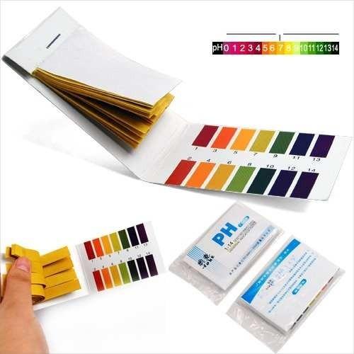 80 tiras de papel ph universal 1-14 alcalinidad y acidez