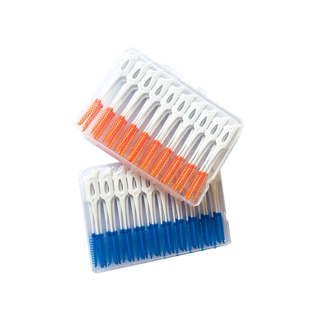 80 Unids   Caja Hilo Dental Cepillo Interdental Dientes Palo ... 427a3e775842
