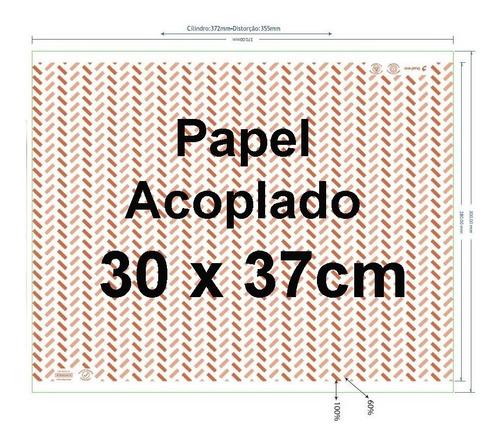 800 papel acoplado 30x37 - wrap fritas lanches hamburg dog
