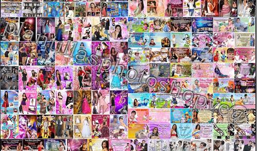 800 plantillas photoshop 15 años, bodas , infantiles y mas
