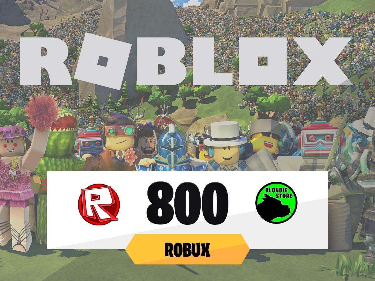 800 Robux Roblox At Todos Los Días On At Mercadolider - roblox robux sign