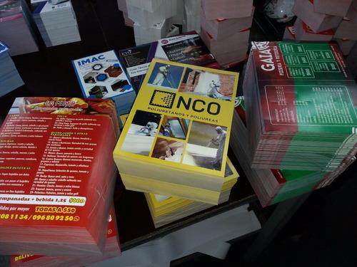 8000 folletos a todo color $3200