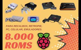 8 000 Roms Raspberry Pi, Recalbox, Retropie, Retro, Android