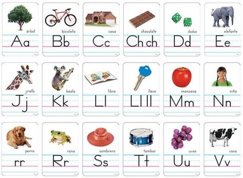 8056 tarjetas educativas alfabeto español 30 piezas trend