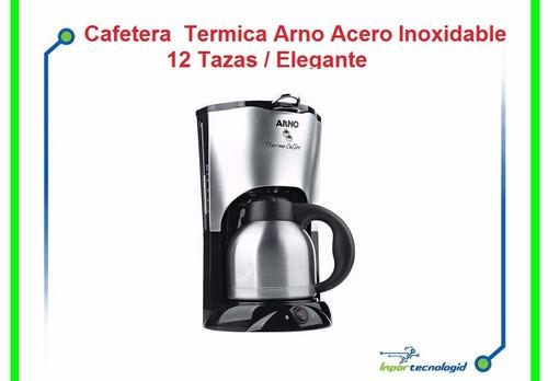 807 ÷ & cafetera termica arno acero inoxidable 12 tazas eleg