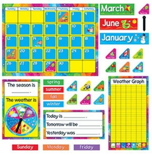 8096 calendario educativo escolar inglés 106 piezas trend