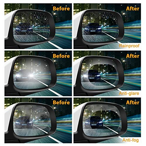 80boy Car Rearview Mirror Film 4pcs Anti Fog Glare Scratch