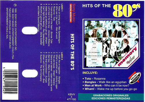 80's  cassette   wham!,  toto,  reo speedwagon,  bangles