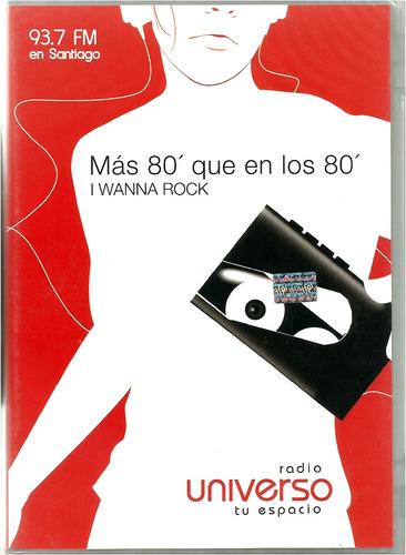 80's rock    radio universo  1 cd  +  1 dvd  nuevo y sellado