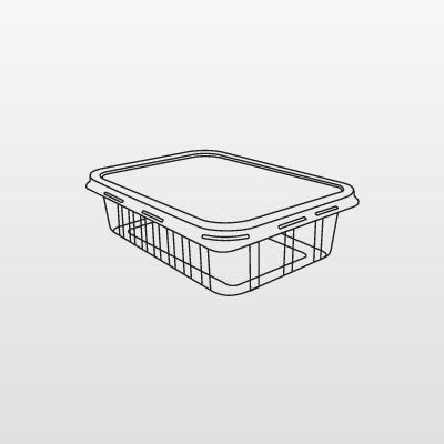 80un potinho marmitex 250ml c/ tampa 100% bpa free microonda
