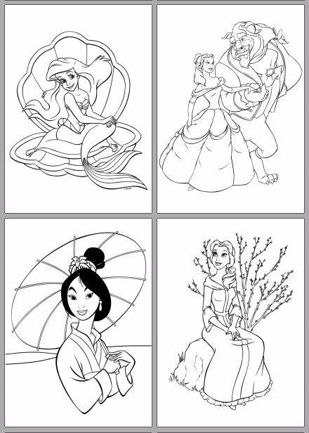 81 Desenhos Para Colorir Princesas Disney Lindos Imprima Pdf