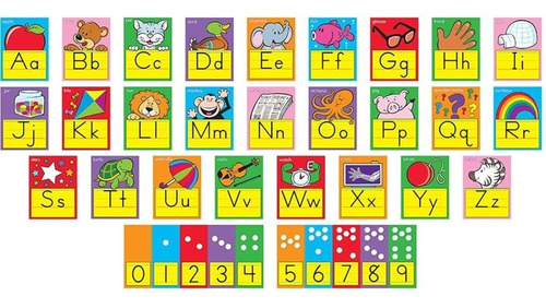 8137 tarjetas educativas alfabeto inglés 26 piezas de trend