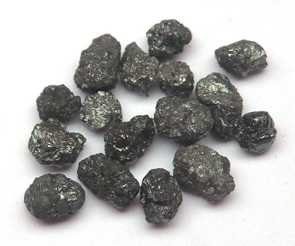 82 cts de diamante negros 100 naturales en bruto en mercado libre - Tipos de piedras naturales ...