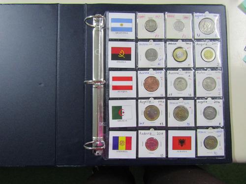 820 banderas todas las del mundo para organizar monedas 5x5