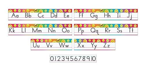 8288 láminas educativas letra molde abc 7 piezas de trend