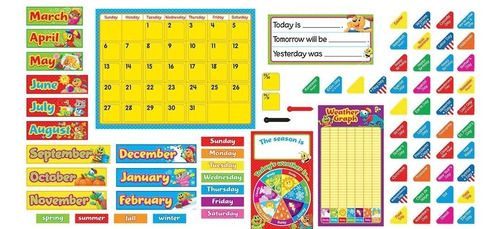 8420 calendario escolar amigos en inglés +90 piezas de trend