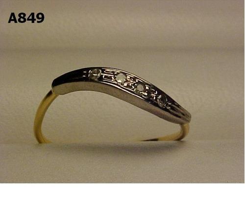 #849a - anel em ouro 18k com brilhantes