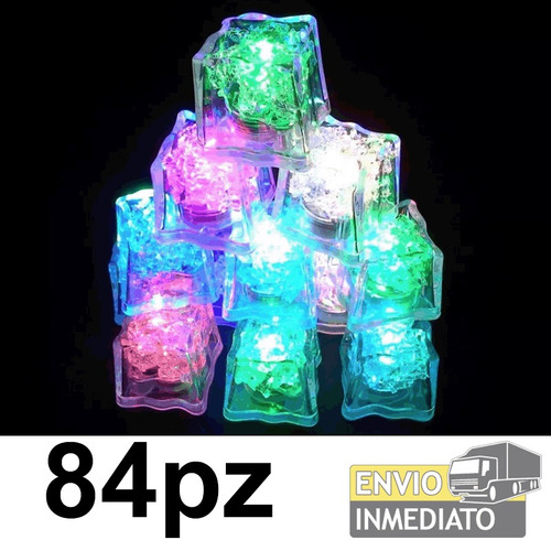 84pzas. led rgb colores  tipo hielo sumergible