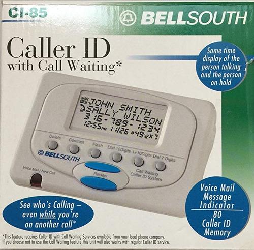 85 ci-id bellsouth de llamadas con llamada en espera