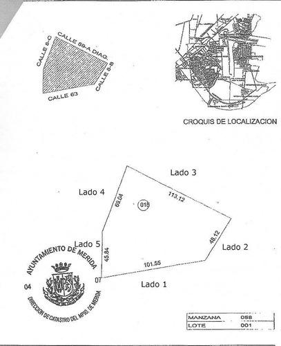8,558 m2 de terreno en venta en col. roble agrícola, mérida sur