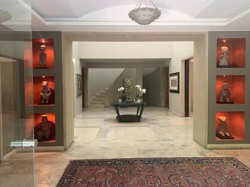 857- extraordinaria casa en renta en hacienda santa fe