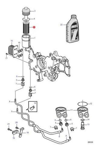 8692305 filtro óleo lub volvo penta d3 / v6 v8 4.3 5.0 5.7