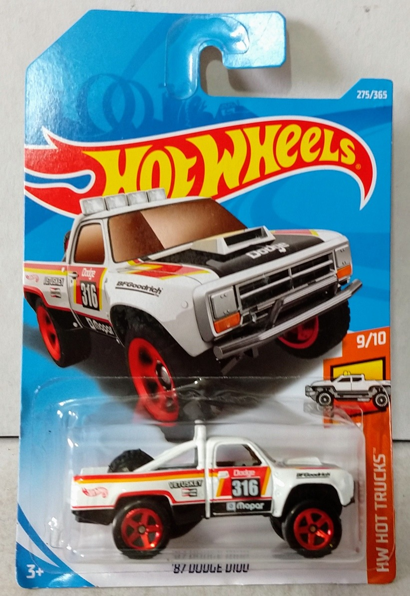 87 dodge d100 hot wheels